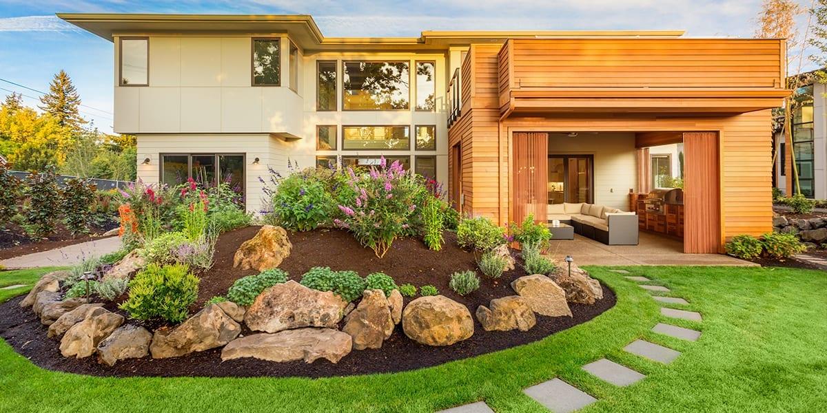 landscaping-checklist-modern-home-front-stone-garden