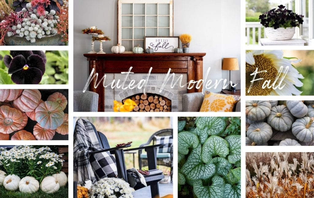 Muted modern fall decor collage image