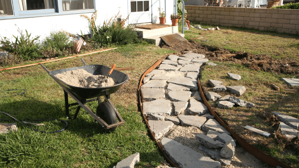 Image of front path hardscaping renovation