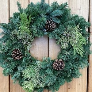 "24"" Mixed Greens Wreath"