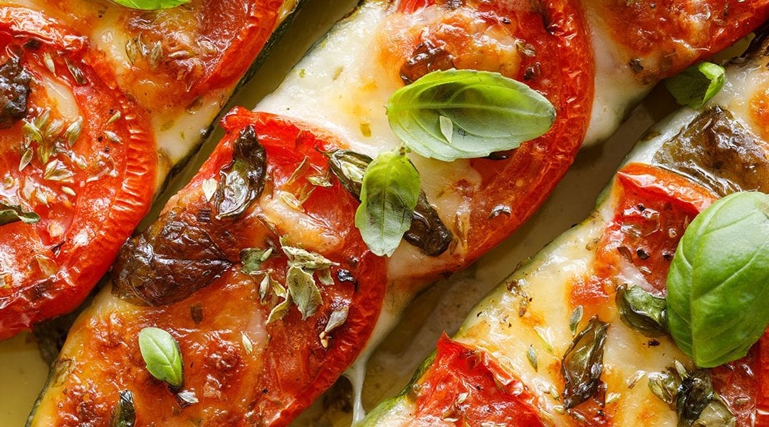 Baked Tomatoes with Six Cheese Blend