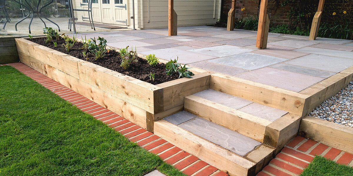 platt hill nursery transform landscape in stages patio steps wood garden beds
